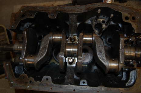 Crankshaft will be polished and crack tested at same time as cylinder rebore.