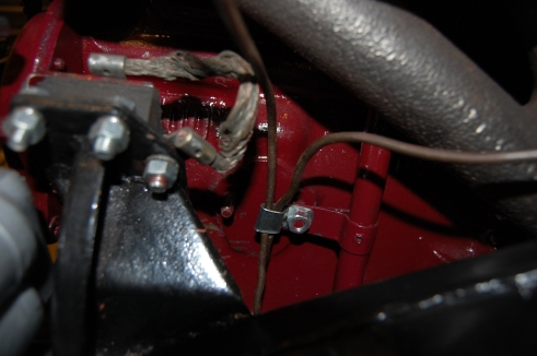MGA 1500 fuel overflow pipe routing.