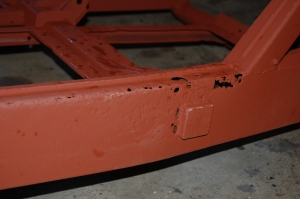 Both sides outer chassis around the cross member require cutting out and patching - not too serious and very typical.