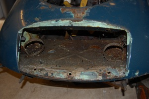 Front end and shroud in generally good shape - no previous significant accident damage.