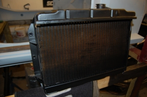 I dedcided to have the original radiator overhauled and recored, as this was the same price as a new one, which I'm convinced are not anywhere near the quality of the originals and partly why so many restored 'A's have cooling problems.